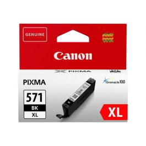 Canon CLI-571BK XL inktcartridge 1 stuk(s) Origineel Hoog (XL) rendement Zwart