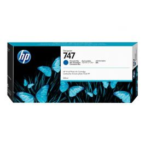 HP 747 chromatisch blauwe DesignJet inktcartridge, 300 ml