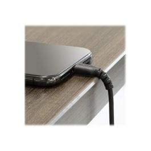 StarTech.com Premium USB-A naar Lightning Kabel 2m Zwart USB Type A naar Lightning Charge & Sync Oplaadkabel Verstevigd met Aramide Vezels Apple MFi Gecertificeerd iPad Air iPhone 12