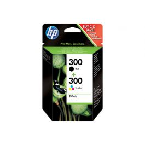 HP 300 Origineel Zwart, Cyaan, Magenta, Geel 2 stuk(s) Hoog (XL) rendement