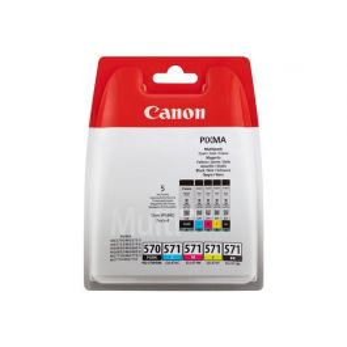 Canon PGI-570/CLI-571 PGBK/C/M/Y/BK inktcartridge 5 stuk(s) Origineel Normaal rendement Foto zwart, Foto cyaan, Zwart, Fotogeel, Foto magenta
